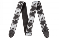 Fender 2inch Monogrammed Strap Black/Light Grey/Dark Grey