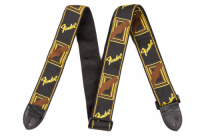 Fender 2inch Monogrammed Strap Black/Yellow/Brown