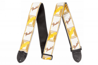 Fender 2inch Monogrammed Strap White/Brown/Yellow