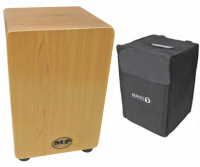 MP Drummers Cajon Maple Veneer with Carry Case