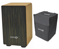 MP Drummers Cajon Ebony Veneer with Carry Case