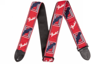 Fender 2inch Monogrammed Strap Red/White/Blue