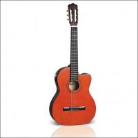Ashton CG44CEQ Classical Guitar Amber or Black