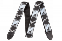 Fender 2inch Monogrammed Strap Black/Grey/Blue